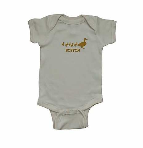 Boston Ducklings Onesie - Natural