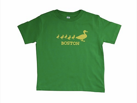 Boston Ducklings Tee Shirt - Green