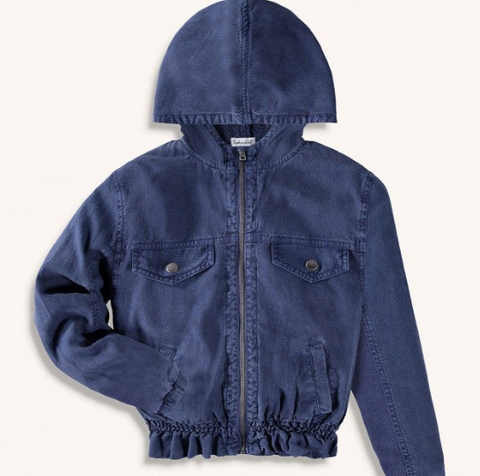 Splendid Light Twill Jacket-Indigo Coast