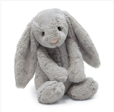Jellycat Medium Bashful Grey Bunny