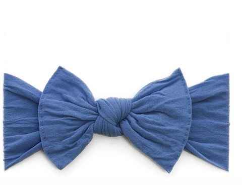 Baby Bling Knot Headband-Denim