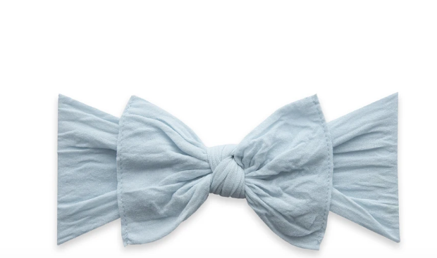 Baby Bling Knot Headband-Chambray