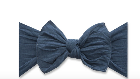 Baby Bling Knot Headband-Slate Blue
