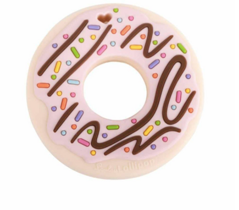 Lou Lou Lollipop Single Teether - Pink Donut