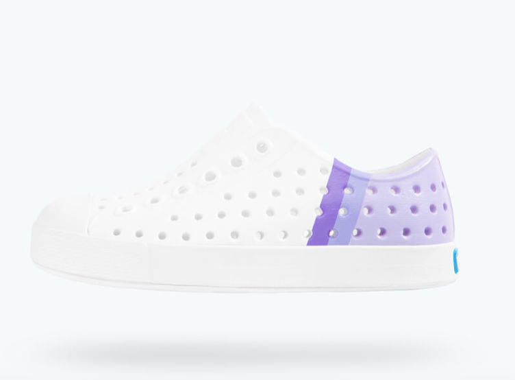 Native Jefferson Block Child - Shell White/Lilac