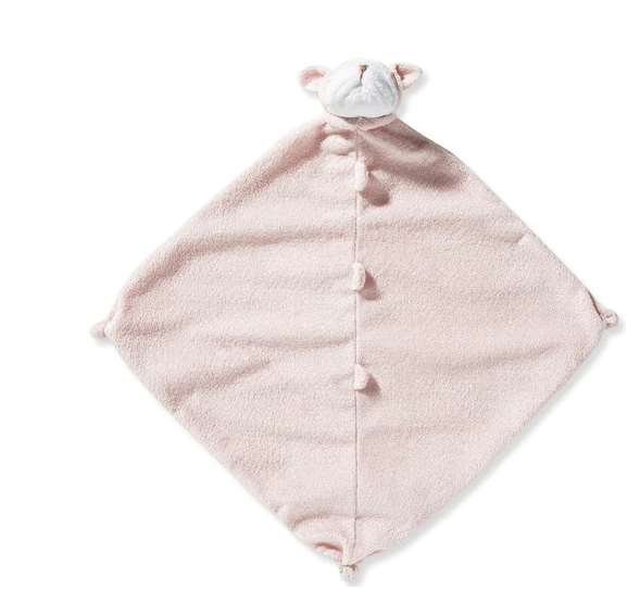 Angel Dear Lovie Blanket-pink bulldog