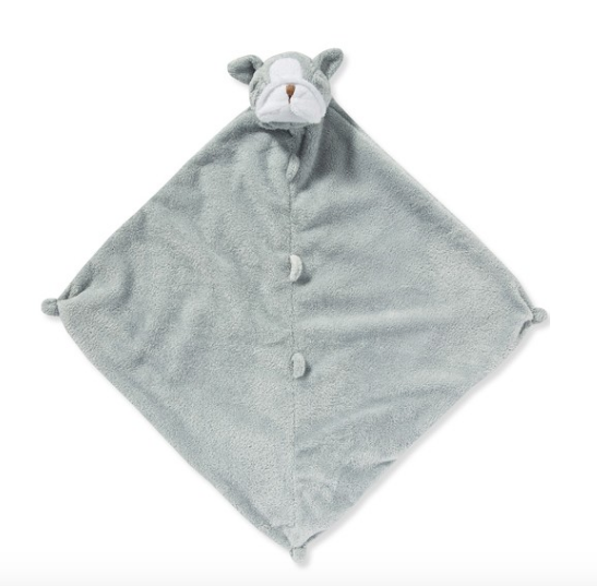 Angel Dear Lovie Blanket-grey bulldog