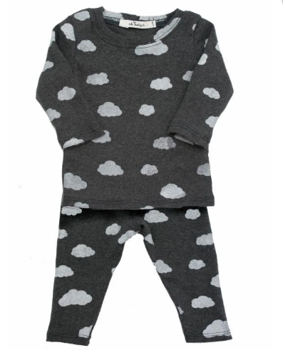 oh baby! 2 piece set - Charcoal Clouds
