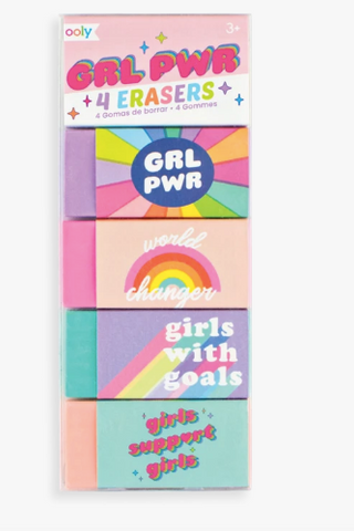Ooly Girl Power Erasers