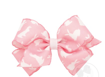 Wee Ones Medium Bow-Bunny Print