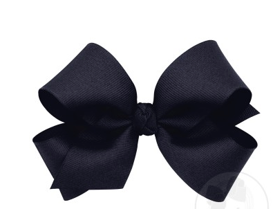 Wee Ones Medium Bow-Navy