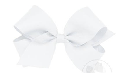 Wee Ones Medium Bow-white