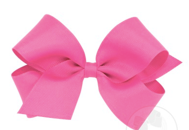 Wee Ones Medium Bow-hot pink