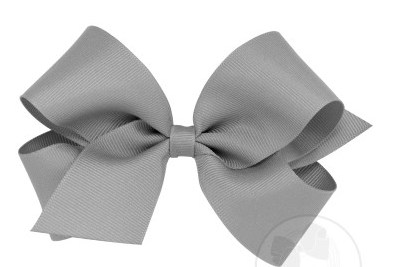 Wee Ones Medium Bow-grey