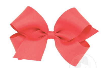 Wee Ones Medium Bow-watermelon