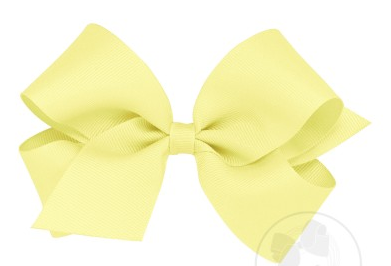 Wee Ones Medium Bow-light yellow