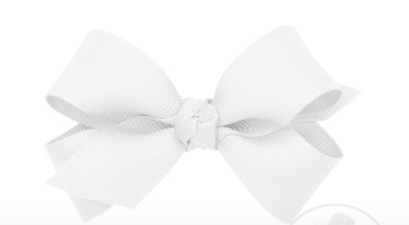 Wee Ones Mini Bow Twist Knot-white