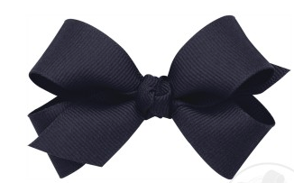 Wee Ones Mini Bow Twist Knot-navy
