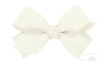 Wee Ones Mini Bow Twist Knot-antique white