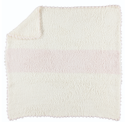 Barefoot Dreams Cozy Chic Striped Blanket-cream/pink