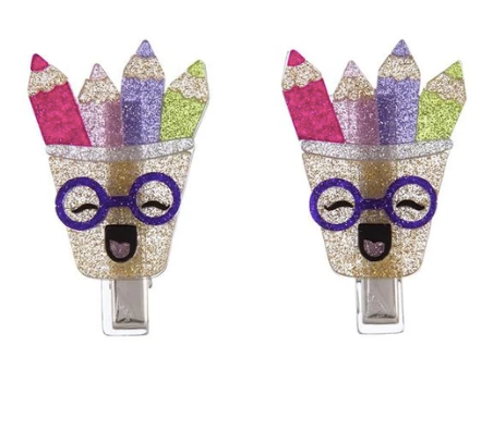 Alligator Clips 2 pack-colorful pencils