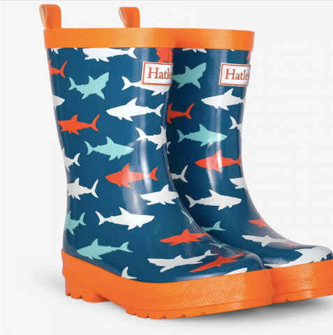 Hatley Great White Sharks Rainboots