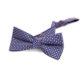 Appaman Bow Tie-pink/blue puppy tooth