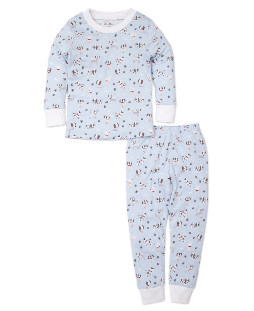 Kissy Kissy Puppy Posse Baby Pajama Set - Light Blue