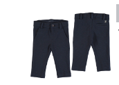 Mayoral Navy Check Dress Pant