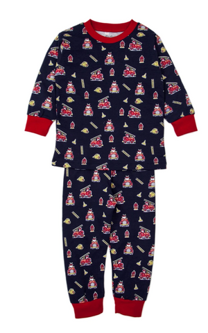 Kissy Kissy Youth Pajama Set-Firetrucks