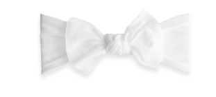 Baby Bling Knot Headband-White