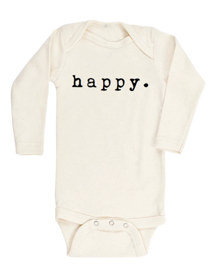Tenth & Pine L/S Onesie-happy