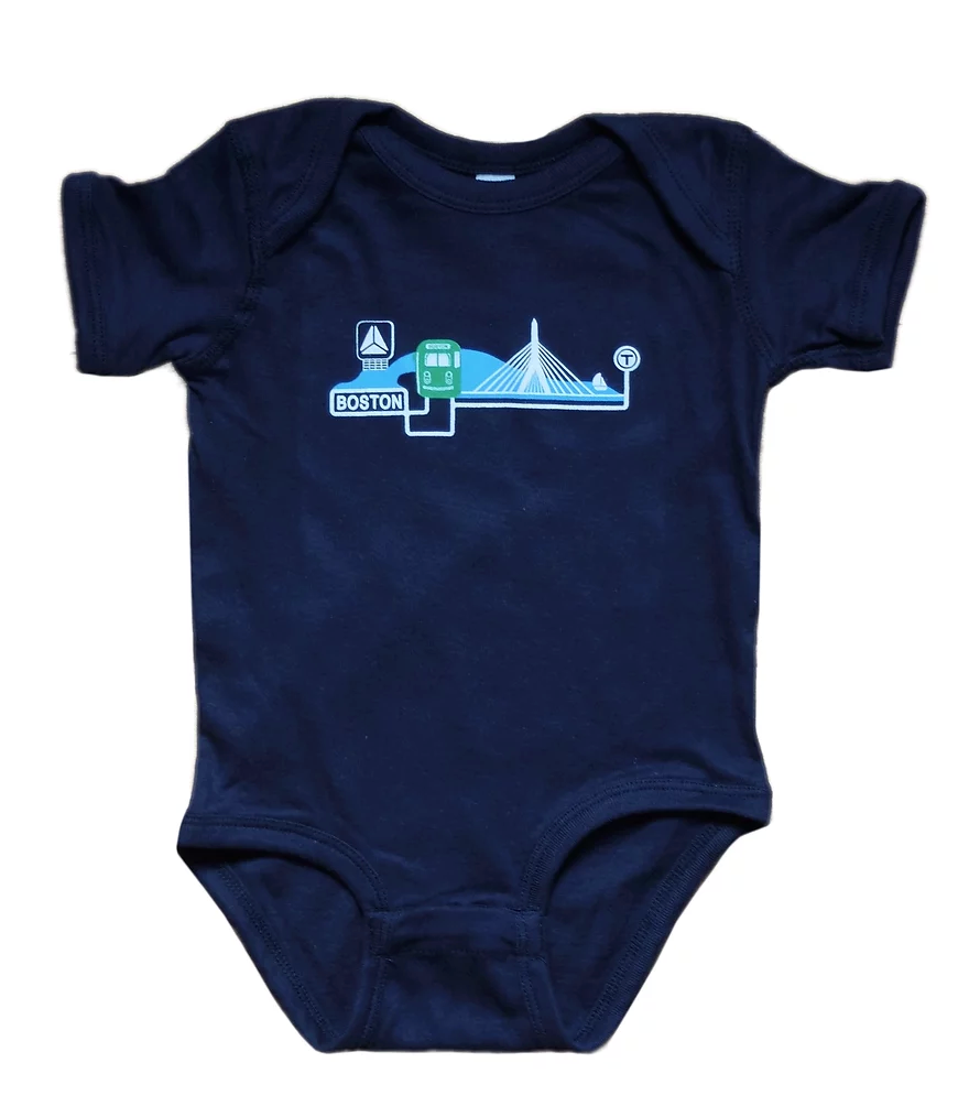 Green Line on The Charles Onesie