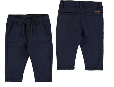 Mayoral Brushed Twill  Pull-On Pant-Navy