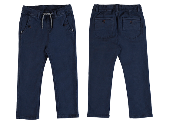 Mayoral Twill Pull On Pant-navy