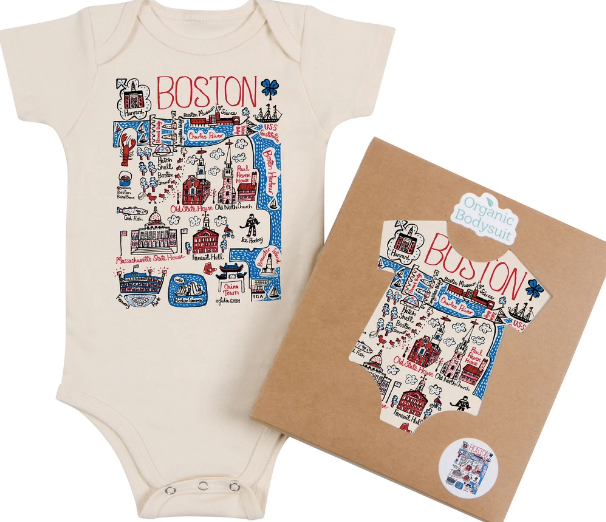 Morado Designs Boston Map Onesie