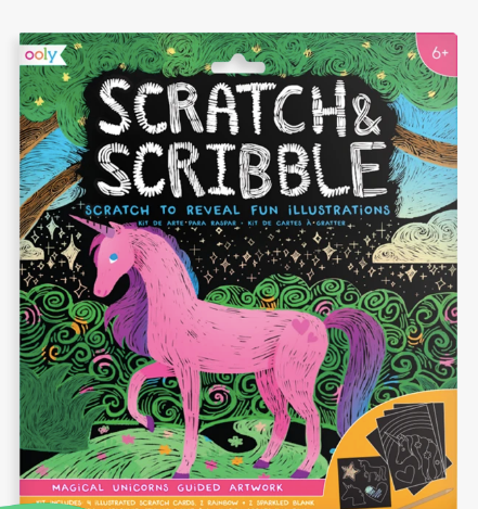 Ooly Scratch & Scribble - magical unicorns