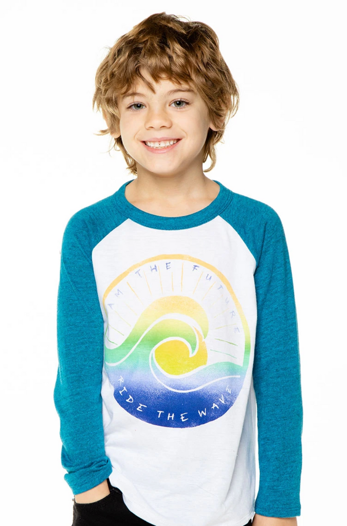 Chaser Kids Vintage Jersey Baseball Tee - Wave of the Future