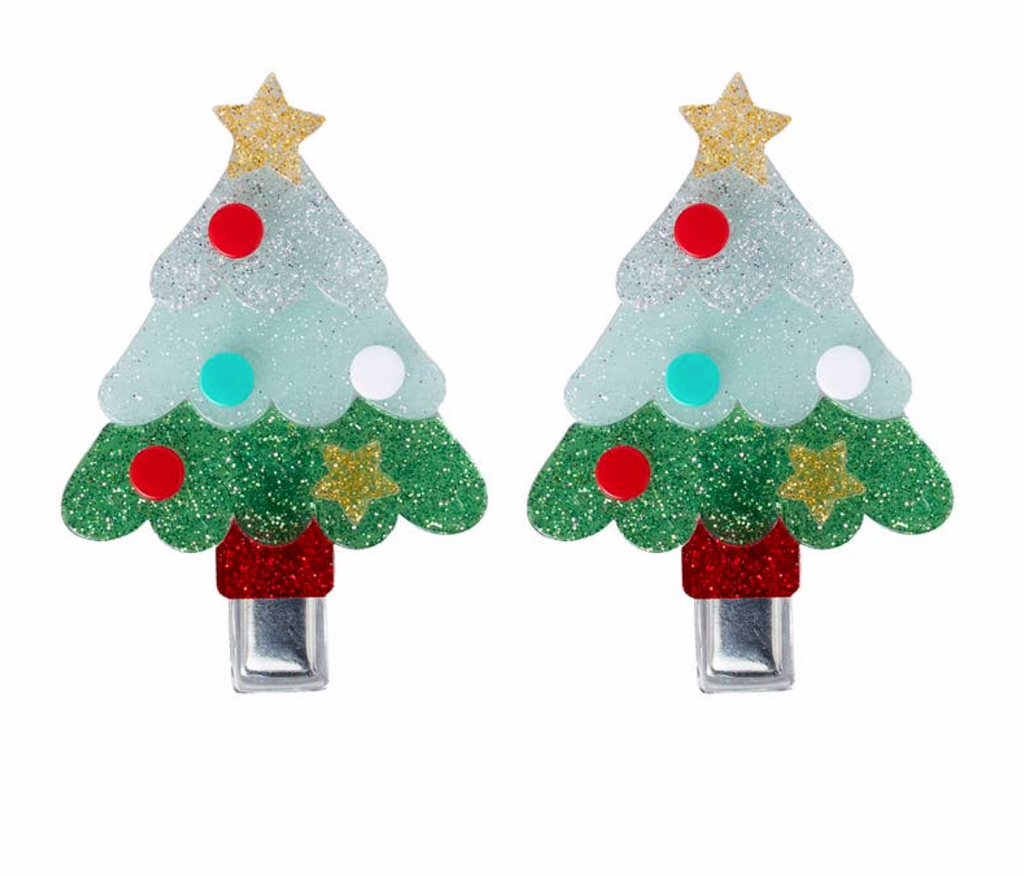 Lilies & Roses Christmas Tree Alligator Clips