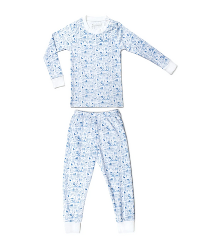 Joy Street Boston Pajamas-blue