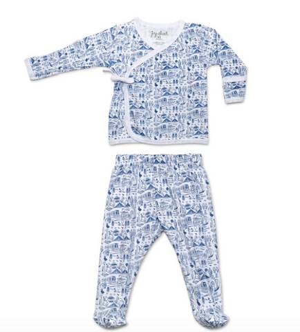 Joy Street Boston Layette Set-blue