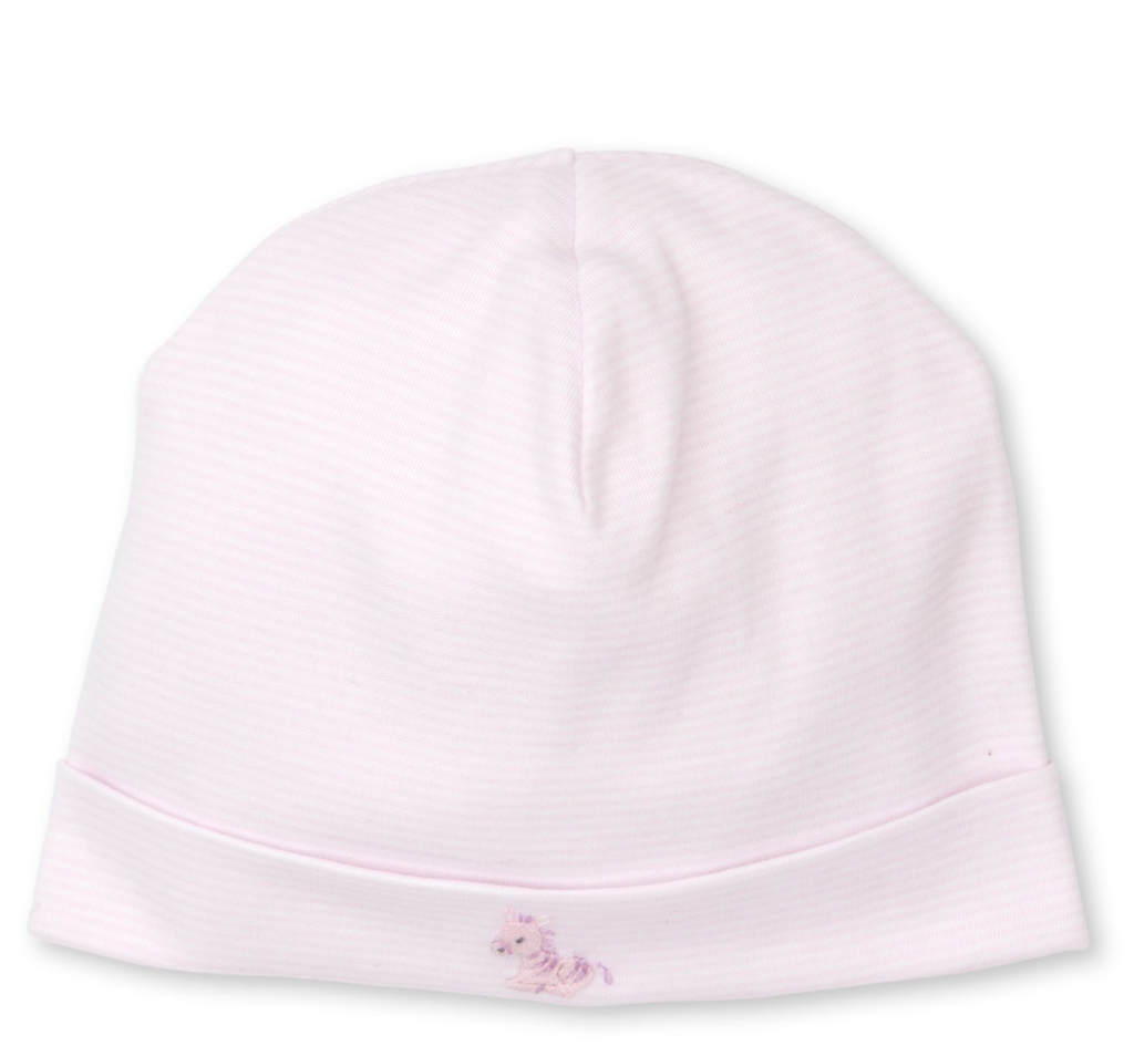 Kissy Kissy Hand Embroidered Hat-pink jungle babies