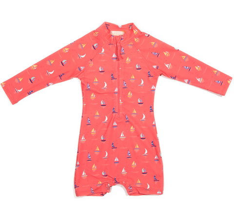 Egg Jessie Swimsuit Shortall-coral boats