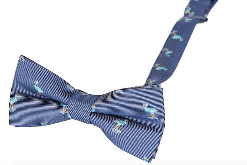 Appaman Bow Tie-blue flamingo