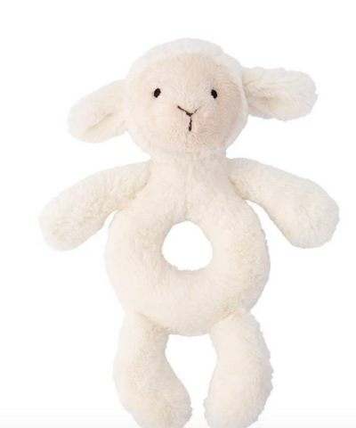 Jellycat Bashful Ring Rattle - lamb