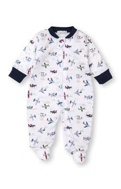 Kissy Kissy Footie with Zipper - Awesome Airplanes