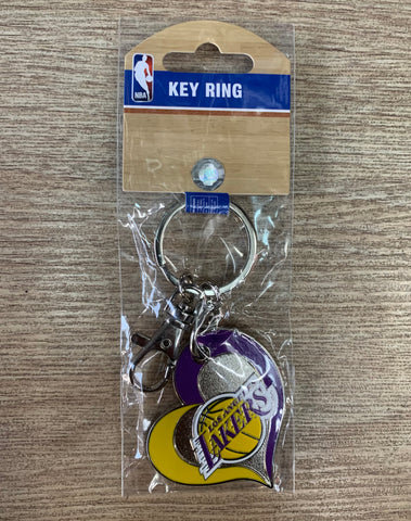 Los Angeles Lakers Purple Heart Key Ring