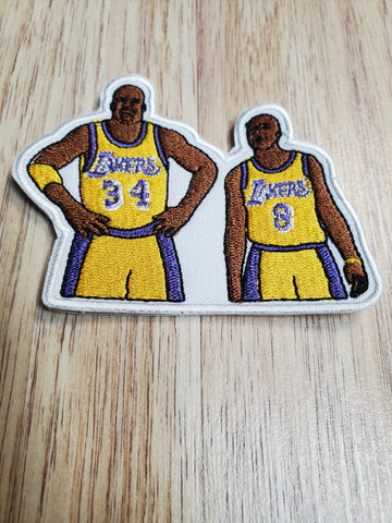 Los Angeles Lakers Kobe Bryant & Shaquille O'Neal 3 inch Patch