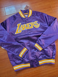 Los Angeles Lakers Mitchell & Ness Purple Lightweight Satin Jacket