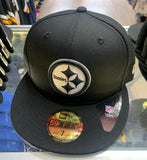 Pittsburgh Steelers New Era Black Fitted Hat